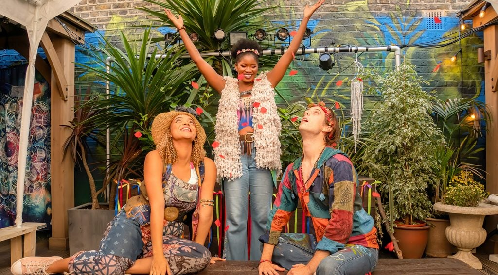 Tanisha-Mae Brown, Tsemaye Bob-Egbe and Ryan Anderson in Pippin