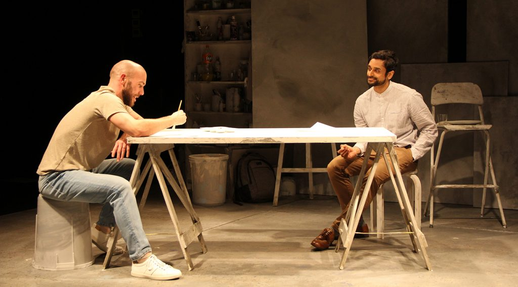 Jimmy Essex and Devesh Kishore in GHBoy at the Charing Cross Theatre