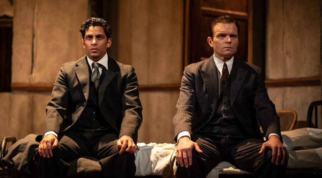 Shane Zaza and Alec Newman in The Dumb Waiter at Hampstead Theatre credit Helen Maybanks
